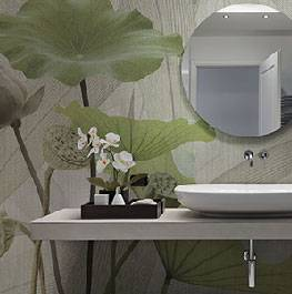 textile / white lotus