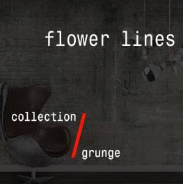 grunge / flower lines