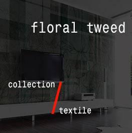 textile / floral tweed