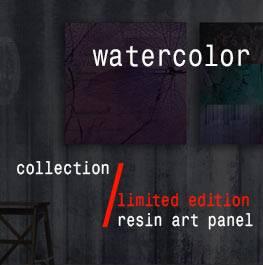 watercolor – resin art panel