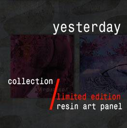 yesterday – resin art panel