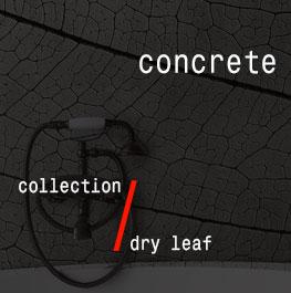 concrete / dry leaf